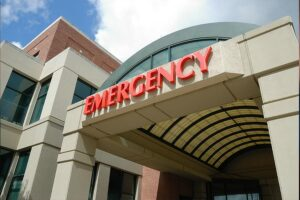 image of emergency room entrance