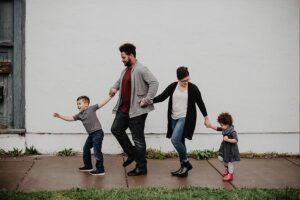 image of blended family